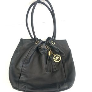 Michael Kors Ring Round Handle Leather Bag